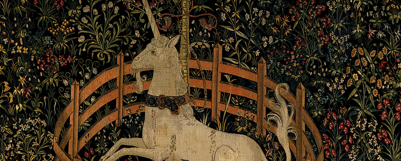 The Unicorn in Captivity https://commons.wikimedia.org/wiki/File%3AUnicorn_in_Captivity.jpg